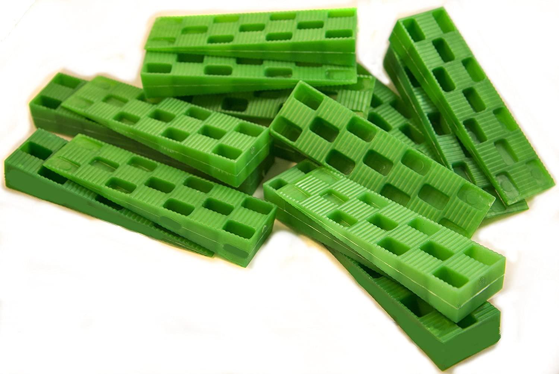 Plastic Wedge - for Using as Door Wedges, Window Wedges, Flooring Spacers - Universal Plastic Shims - 4.5