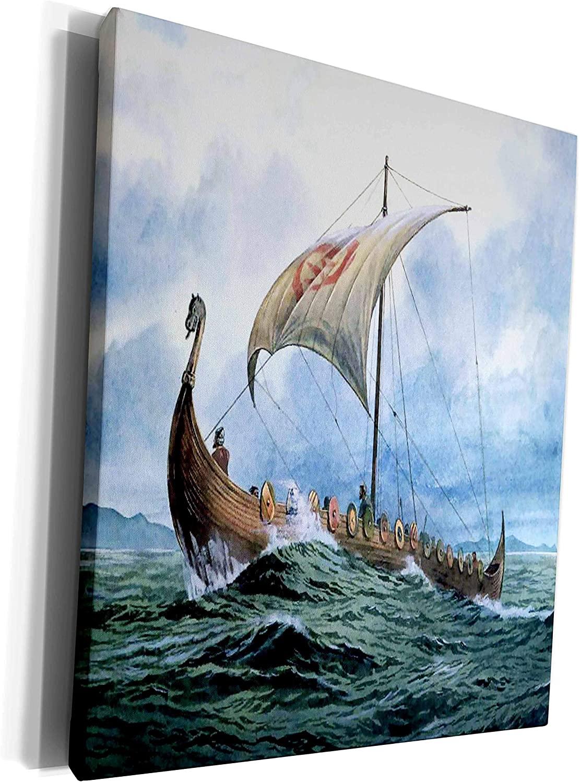 3dRose Florene Boat - Viking Ship.jpg - Museum Grade Canvas Wrap (cw_98640_1)