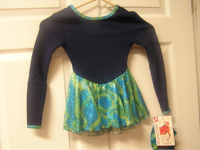 Mondor Model 4404 Polartec Skating Dress Blue Mosaic Size Child 4-6
