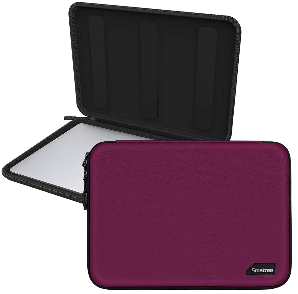 Smatree Hardshell Laptop Sleeve Compatible with 13.3inch MacBook Air/MacBook Pro 2020/2019/2018/2017 /12.9inch iPad Pro/ 12inch MacBook/ 11.6inch MacBook Air/Tablet Sleeve Case (Red)