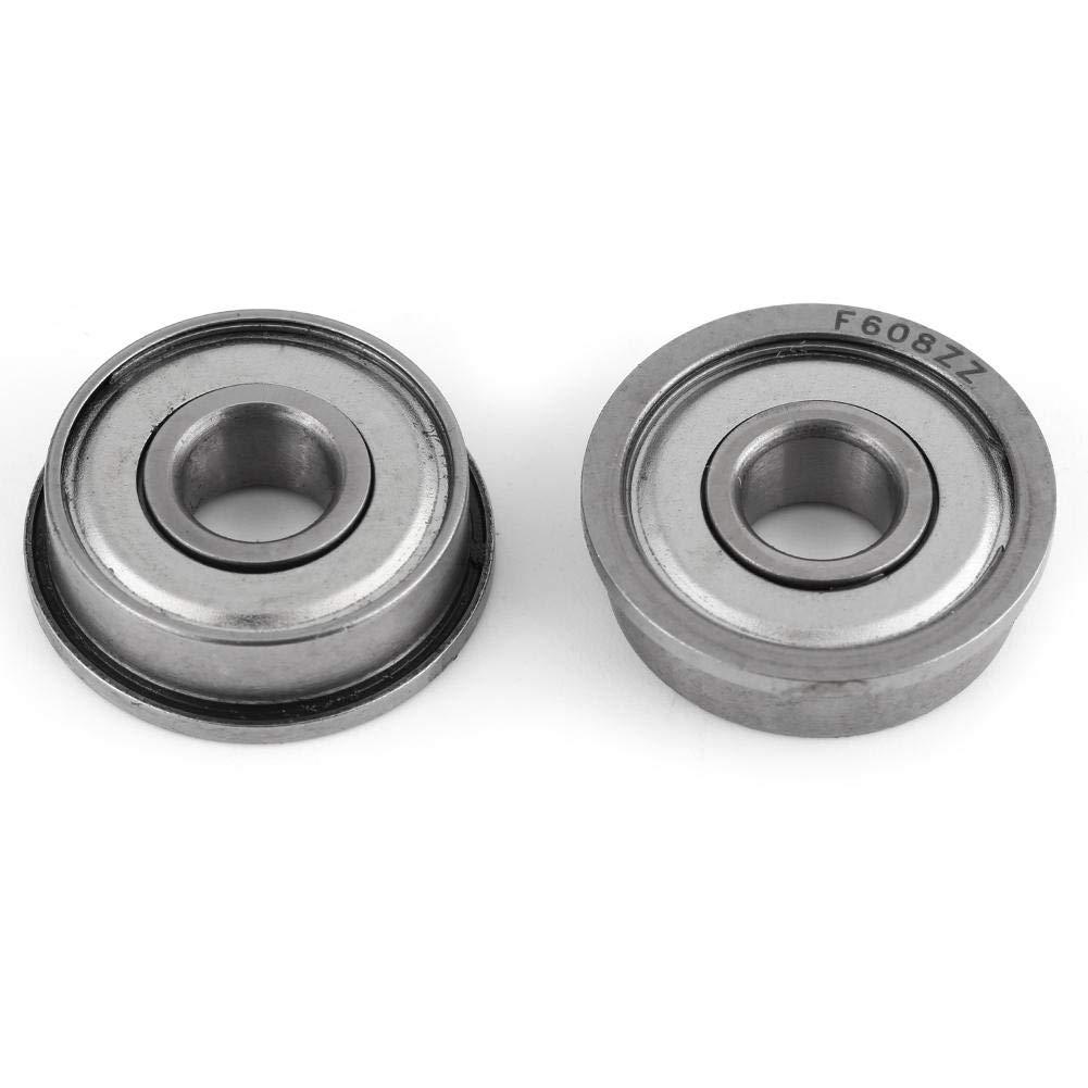 F608ZZ Flanged Miniature Ball Bearings Double Shielded Steel Skateboarding Parts Bearing 8227mm 10pcs
