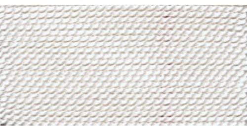 Nylon Beading Thread, White, Size 0, 0.30 Millimeters, Pack of 10 | BDC-101.00