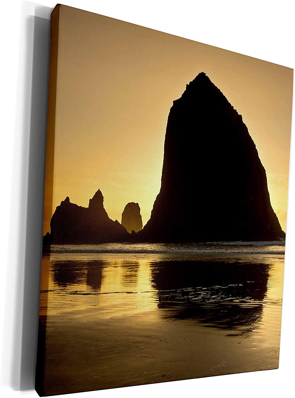 3dRose Danita Delimont - Coastline - Sunset, Cannon Beach, Oregon, USA - Museum Grade Canvas Wrap (cw_231507_1)