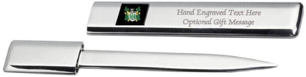 Chrimes Family Crest Surname Coat Of Arms Heraldry Engraved Letter Opener