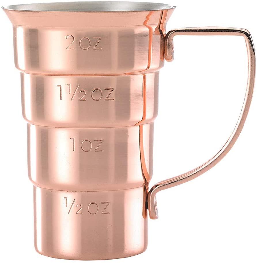 Mercer Culinary Drink Jigger, 2 oz, Copper w/Handle