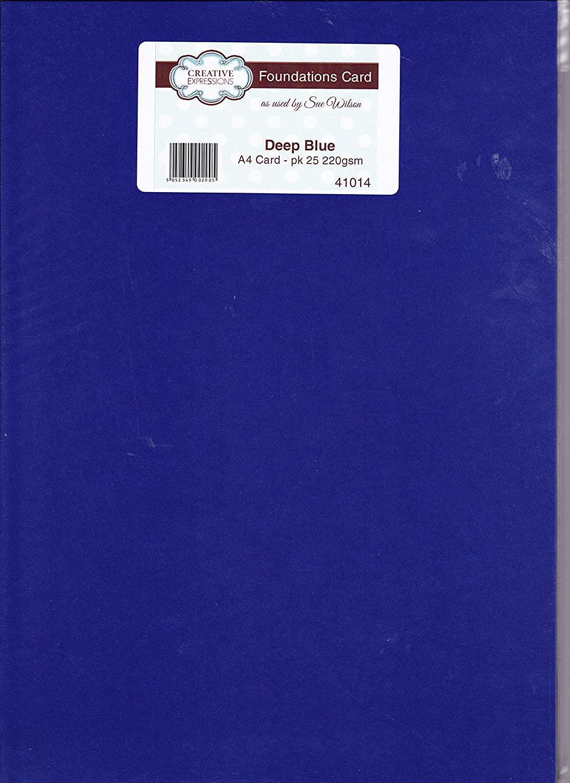 Foundation Cardstock 25 shts 220 gsm - Deep Blue