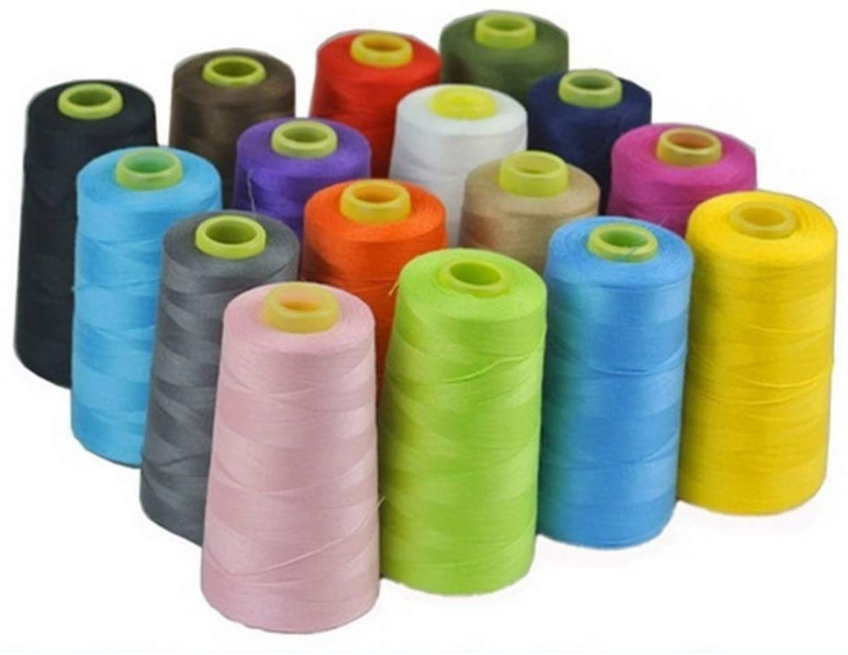 17 Colors 3000 Yards Overlocking Sewing Machine Industrial Polyester Thread Metre Cones,Pink