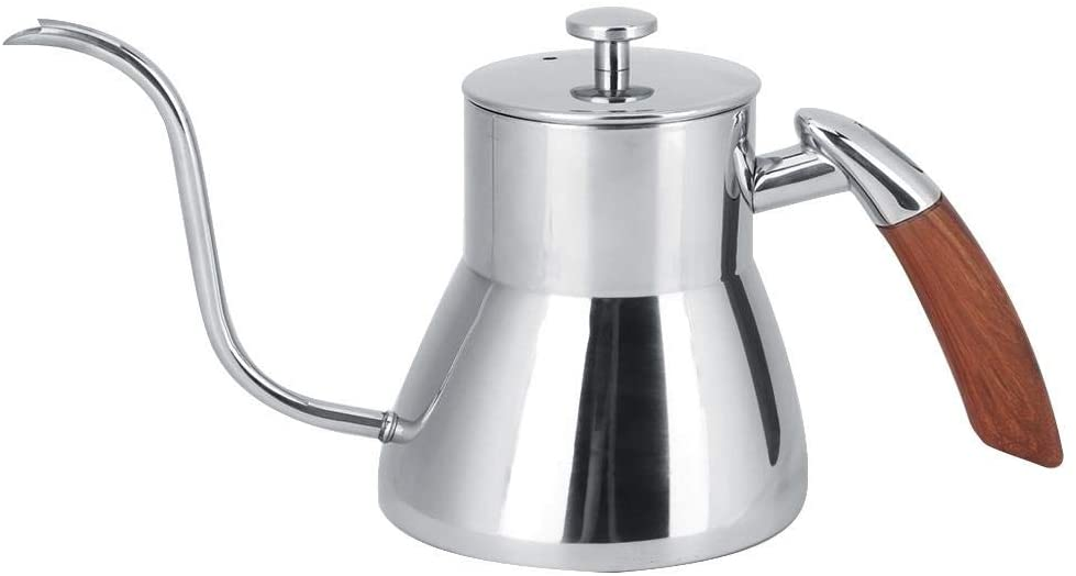 Coffee Pot,800ml Silver Stainless Steel Water Gooseneck Pour Over Coffee Kettle & Tea Kettle for Home Coffee Shop Use