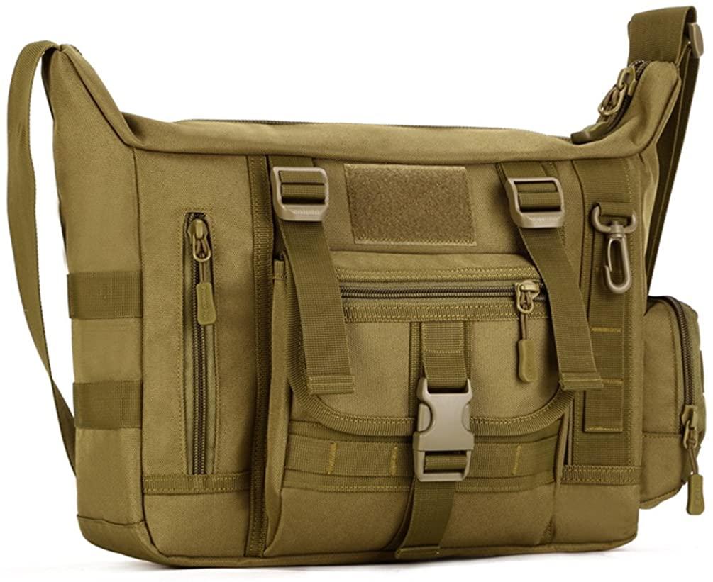 Protector Plus Messenger Shoulder Bag Crossbody Bags Belt Sling Bags Laptop Satchel Packs For Working Cycling Hunting Camping Trekking