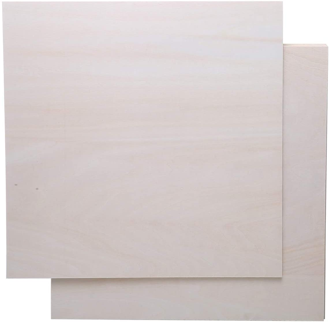 5 PCS 3mm 1/8 ×12 inch ×12 inch Unfinished Basswood Sheets, Unpainted Plywood Wood Sheets for Crafts Wood Burning Project