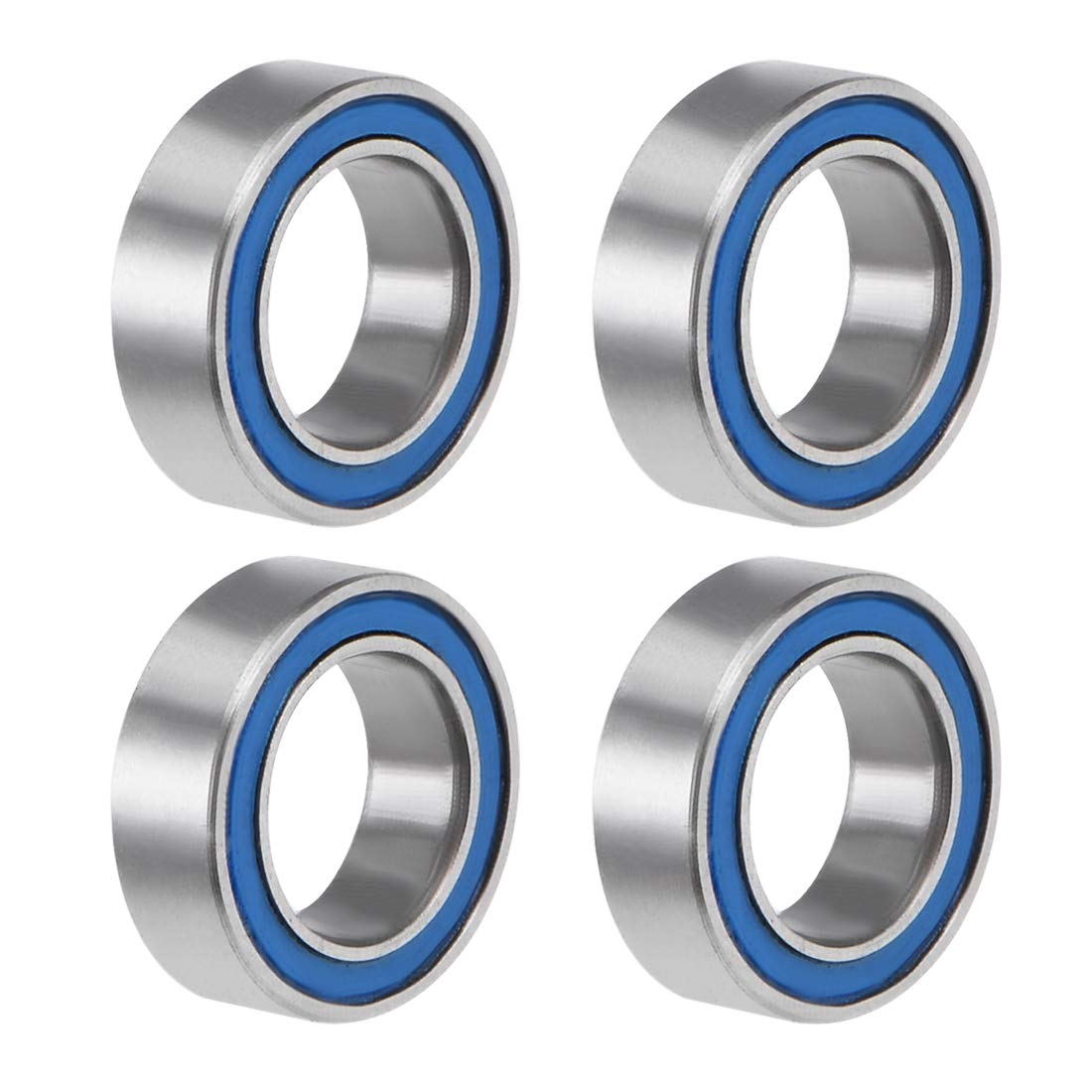 uxcell MR85-2RS Deep Groove Ball Bearing 5x8x2.5mm Double Sealed ABEC-3 Bearings 4-Pack