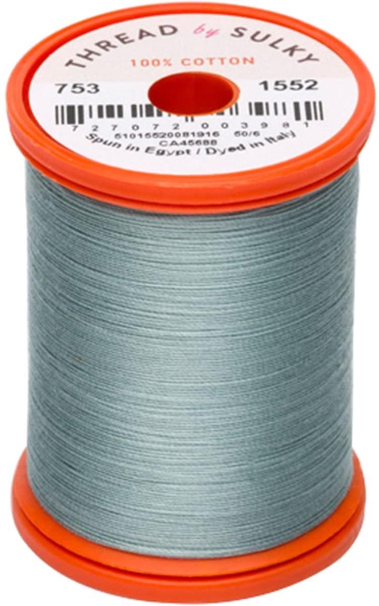 Sulky 753-1552 Cotton & Steel Thread 50wt 660yd, Dark Desert Cactus