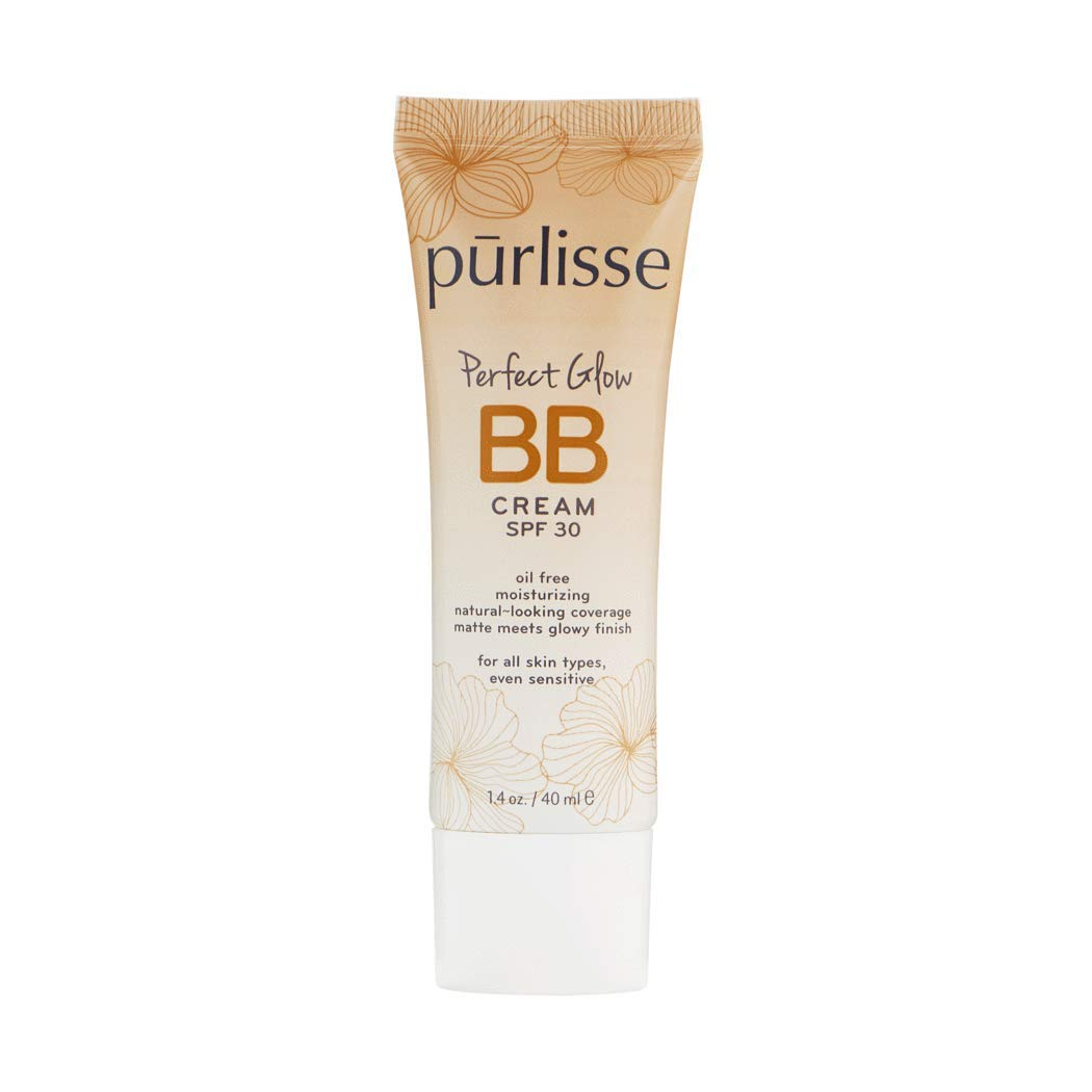 purlisse BB Tinted Moisturizer Cream SPF 30 - BB Cream for All Skin Types - Smooths Skin Texture, Evens Skin Tone - 1.4 Ounce (LIGHT MEDIUM)