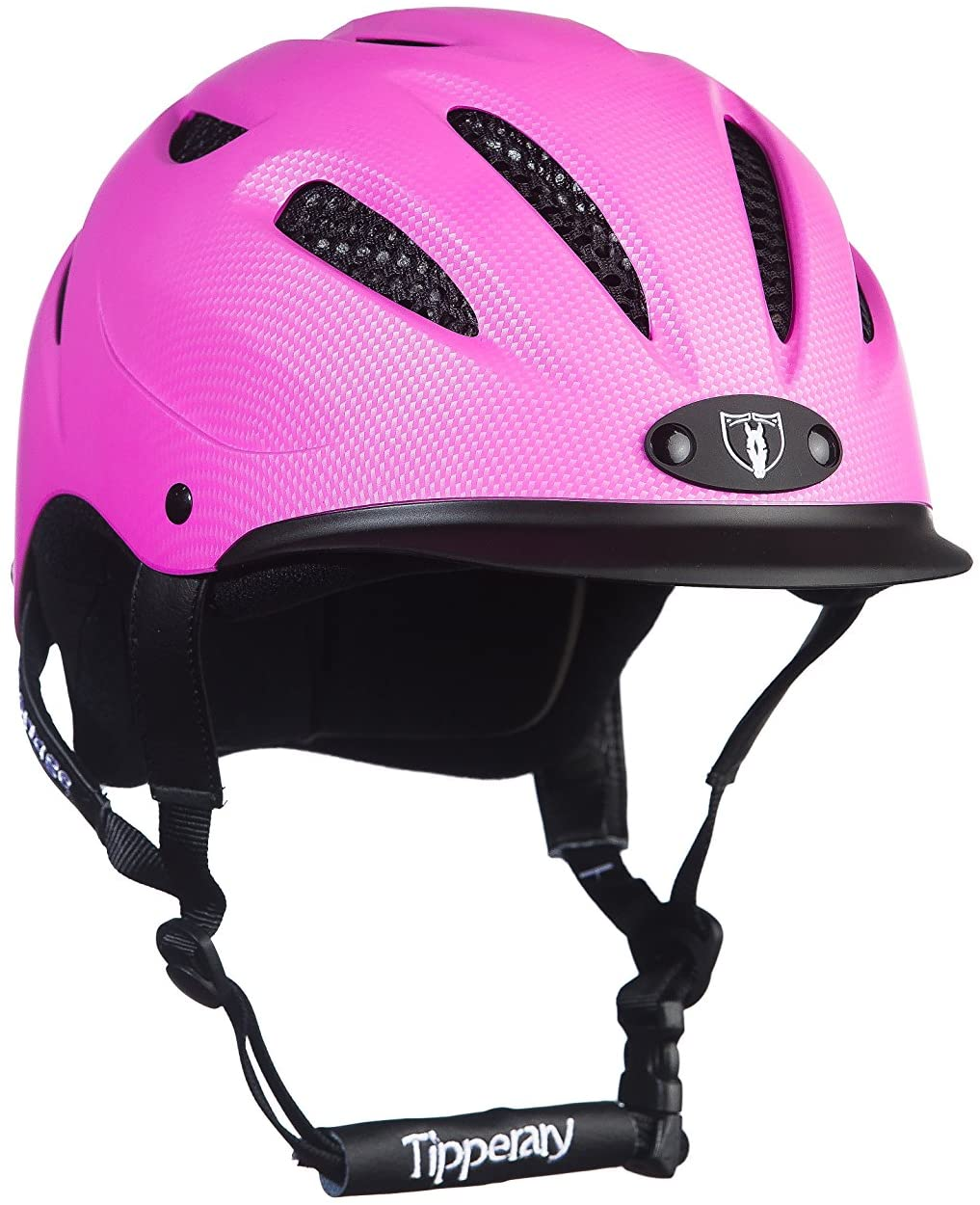 TIPPERARY EQUESTRIAN Horse Riding Helmet - Sportage - Lightweight Cooling Horseback Riding Apparel - Safety Helmet with Superior Ventilation and Air Flow - Toddler - Pink - XXS