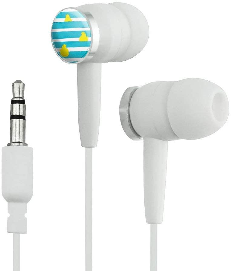 GRAPHICS & MORE Peeps Peeping Behind Stripes Novelty in-Ear Earbud Headphones