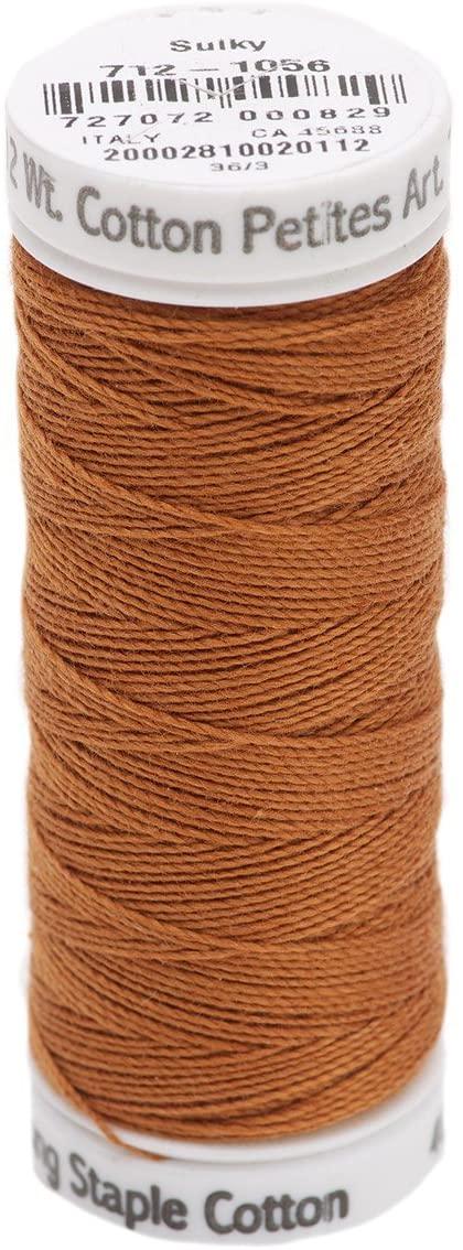 Sulky Of America 12wt 2-Ply Cotton Thread, 50 yd, Medium Tawny Tan