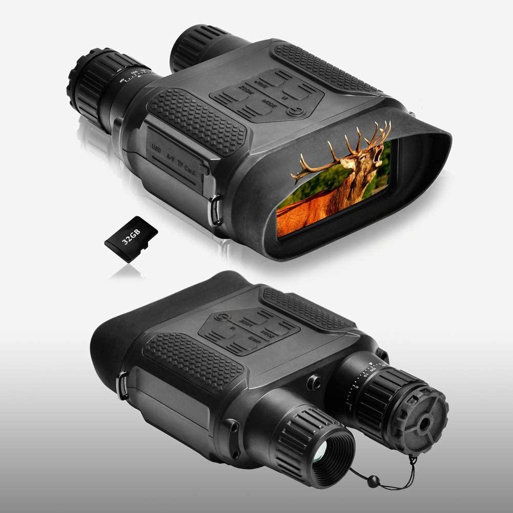 Night Vision Binoculars 1300ft/400M Viewing Range, with 3.5-7x31mm Infrared Camera, 4