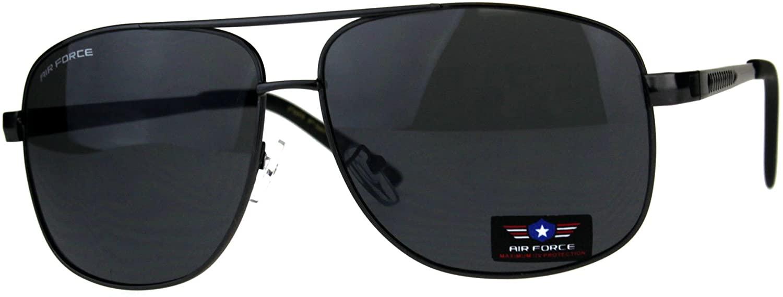 Air Force Sunglasses Mens Square Aviators Retro Fashion UV 400