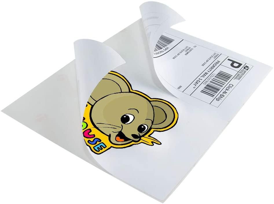 L LIKED Half Sheet Self Adhesive Shipping Labels 8.5