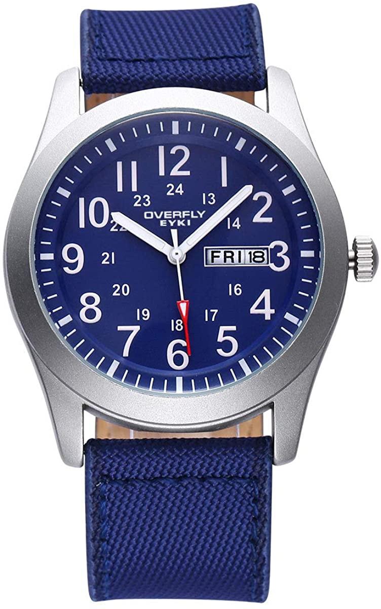 Gison Fashion Canvas with Men's Watch with Double Calendar Quartz Watch