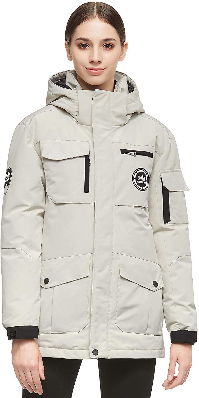Orolay Women's Warm Parka Jacket Anorak Winter Coat with Multiple Pockets