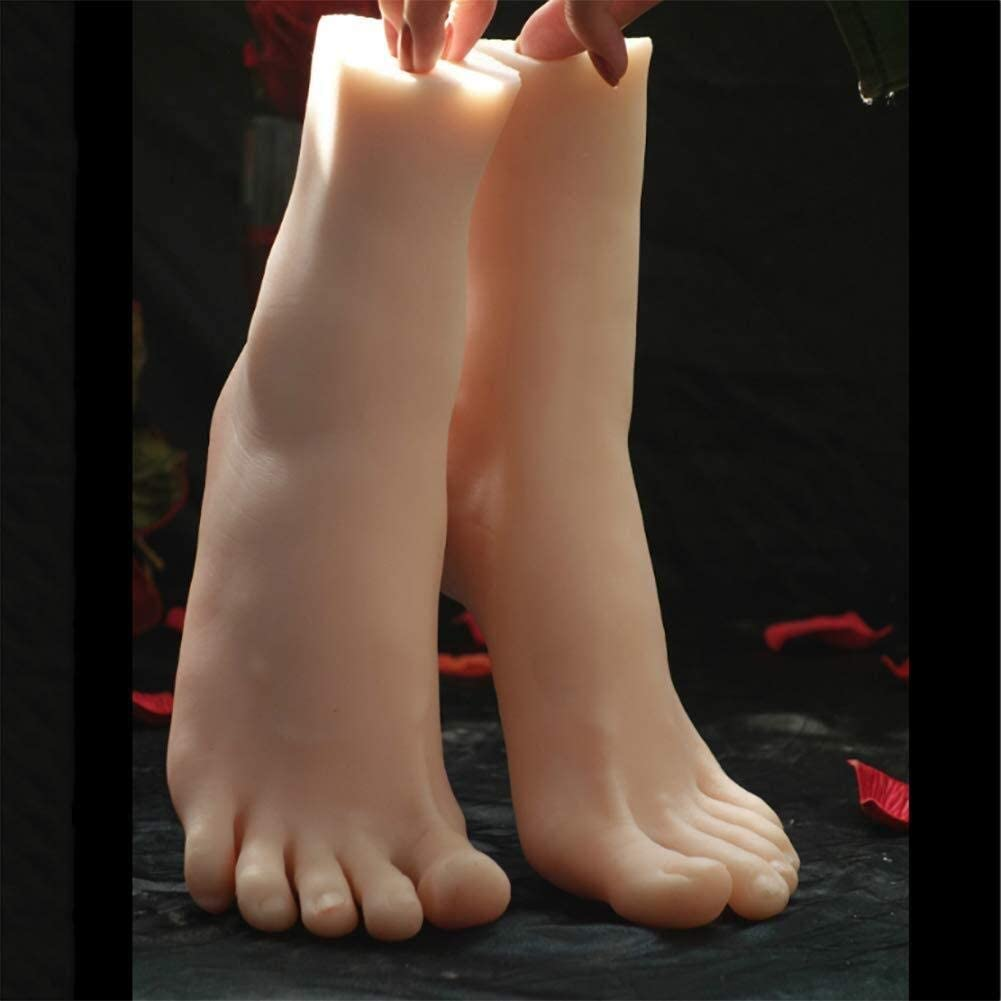 Silicone Life Size Female Mannequin Foot Art Sketch Display Sandal Shoe Sock 1 Pair Shoes Display Model 0829