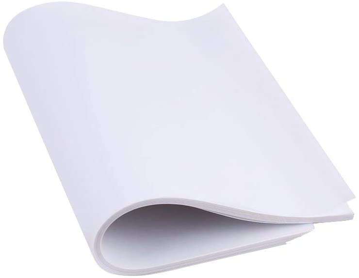nobrand 100Pcs A4 Translucent Traced Transfer Sulfuric Acid Papers for Copy Calligraphy Drawing