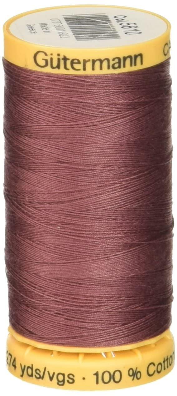Gutermann Natural Cotton Thread 273 Yards-Dark Rose (24672)