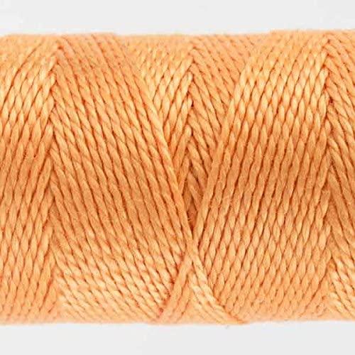 WonderFil Specialty Threads Sue Spargo Eleganza 2-ply #8 Perle Cotton Solids, Peach Puff #14