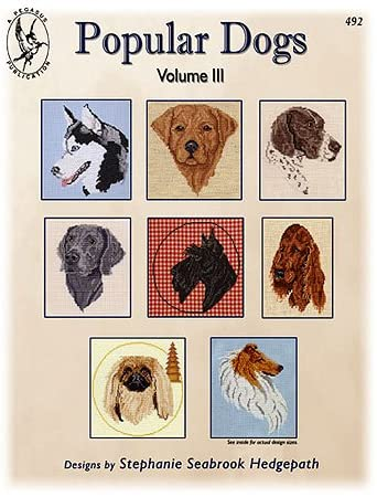Pegasus Originals Popular Dogs Vol. III Counted Cross Stitch Chart Collection