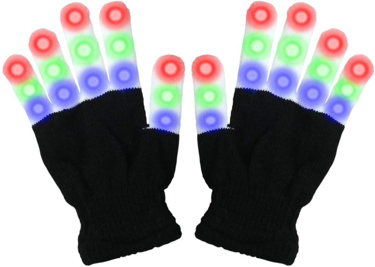 Viposoon Children LED Finger Light Gloves Cool Fun Toys for Kids - Gifts for Kids
