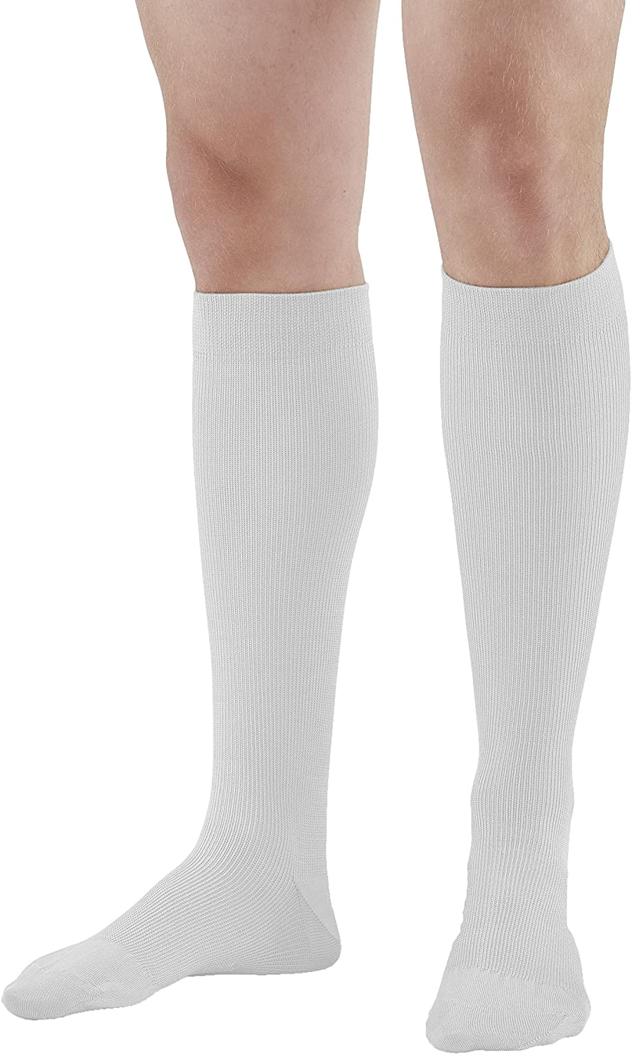 Ames Walker AW Style 132 Cotton 15 20mmHg Moderate Knee High Socks White Large