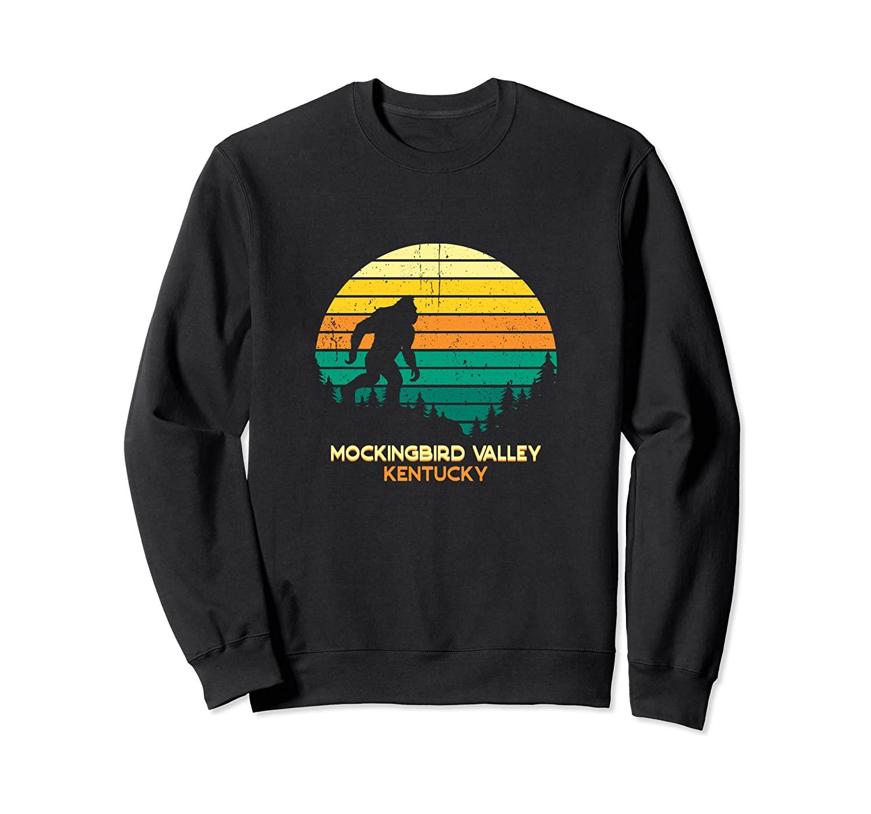 Retro Mockingbird Valley, Kentucky Bigfoot Souvenir Sweatshirt