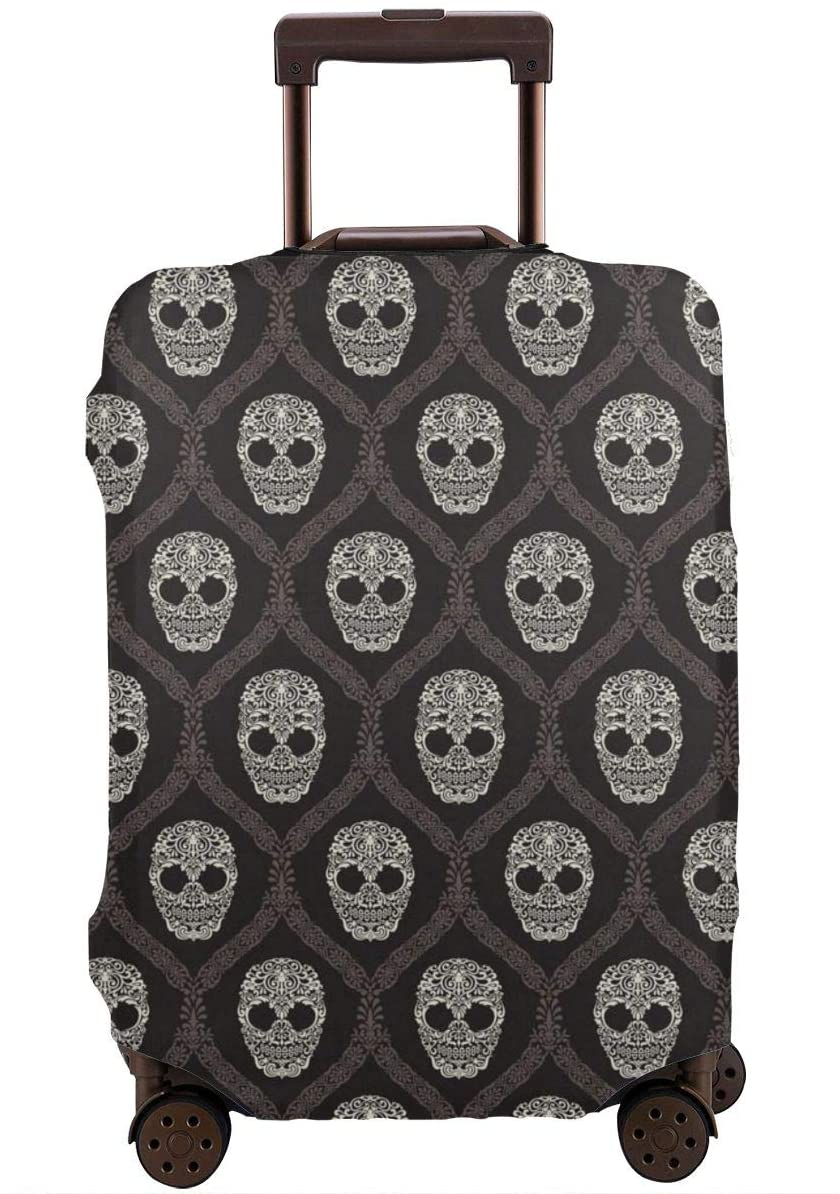 Skull Travel Luggage Cover Anti-scratch Baggage Suitcase Protector Cover Fits 18-32 Inch 3D Pattern