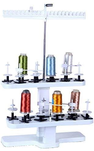 ShineBear 20-Spool Plastic Thread Stand Universal for All Home Embroidery Machines STS-20