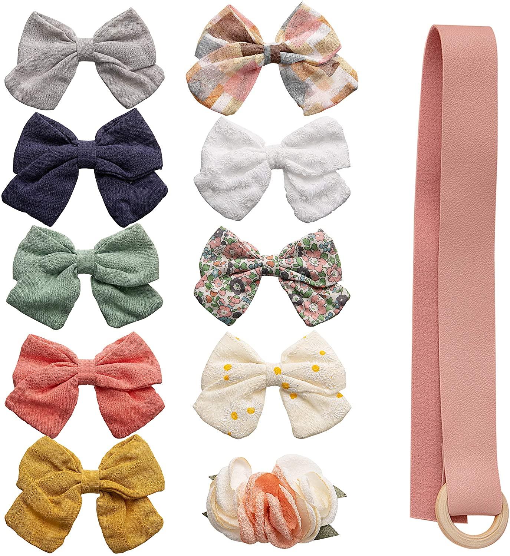 Baby Girl Hair Clips, Bows Barrettes Flower Alligator Clip Hair Accessories for Little Girls Toddler Kids Children
