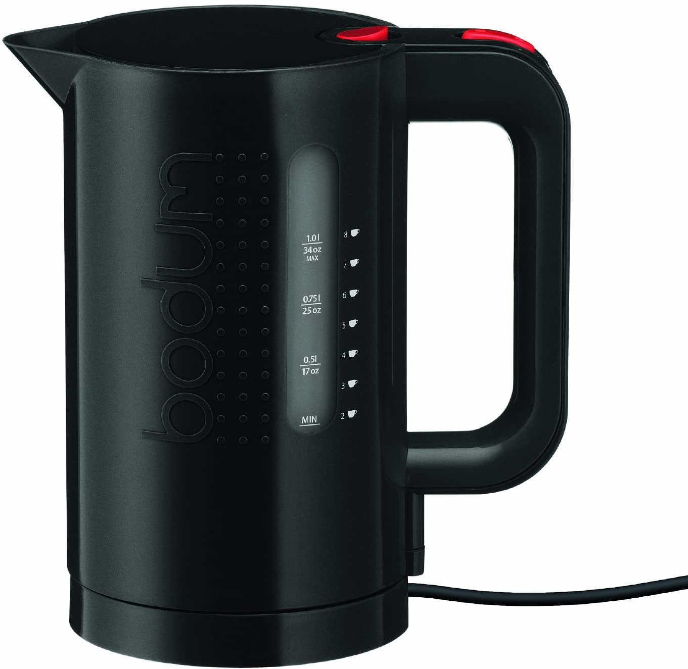 Bodum Bistro Electric Water Kettle, 34 Ounce, 1 Liter, Black