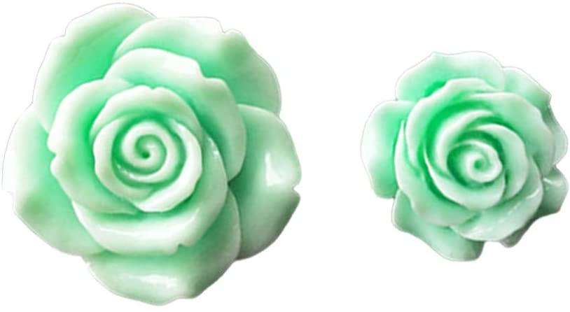 Wakauto Car Vent Charms Flower Vent Clip Perfume Dashboard Ornament Automotive Aromatherapy Solid Perfume Diffuser Car Vent Decoration Gift for Valentines 1 Pair (Green)