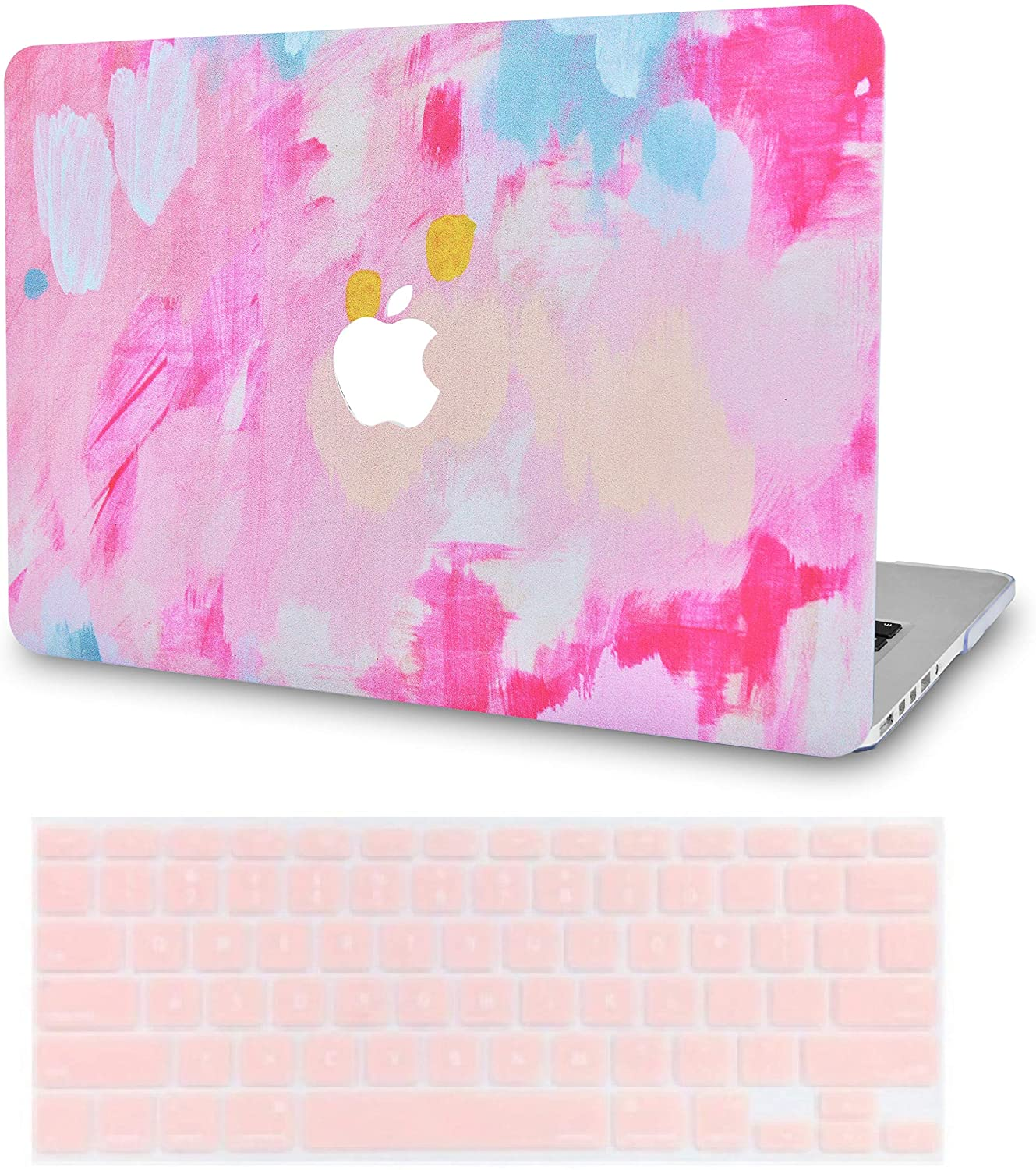 LuvCase2in1LaptopCaseforMacBookAir 13 Inch A1466/A1369 (No Touch ID)(2010-2017)RubberizedPlasticHardShellCover &KeyboardCover (Pink Mist 2)