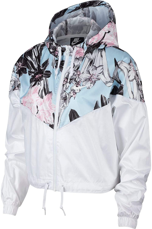 Nike Womens Hyper Femme Crop Windrunner (White/X-Large)