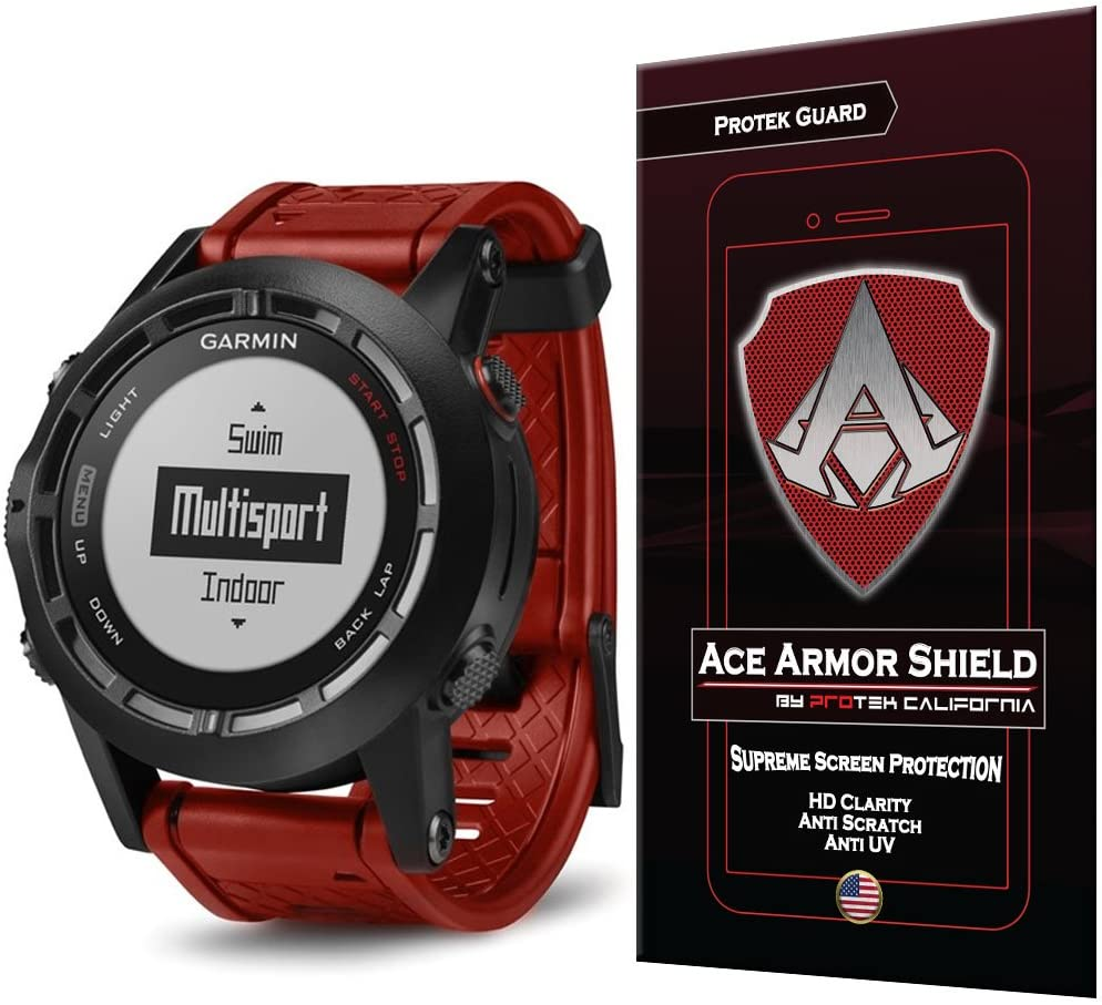 Ace Armor Shield Protek Guard Screen Protector for The Garmin Fenix 2 Special Edition with Free Lifetime Replacement Warranty