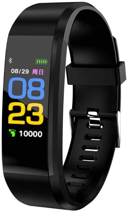 FKING Smart Wristband, Touch Screen IP67 Waterproof Fashion Business Silicone Blood Pressure Heart Rate Monitor for Men Women and Kids, Sleep Monitor