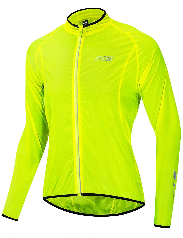 bpbtti Men's Lightweight Packable Cycling Sunscreen Jacket Long Sleeve Coat