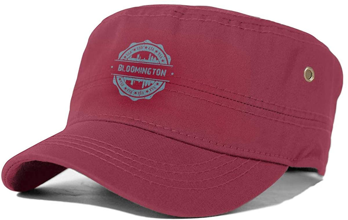 X-JUSEN Men's Bloomington Indiana Flat Cap, Ivy Newsboy Collection Hat, Classic Beret Cap, Cabbie Hat Red