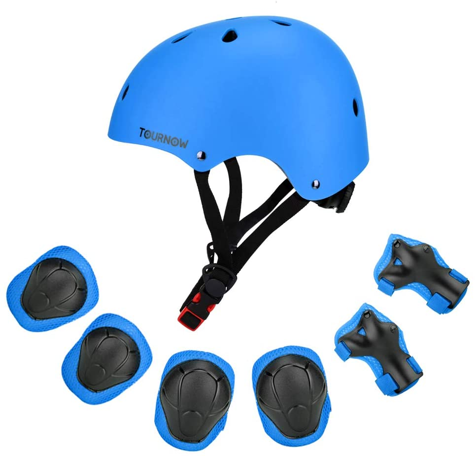 Tournow Kids Helmet, Suitable for Ages 3-8 Years Toddler Boys Girls - Sports Protective Gear Set with Knee Elbow Wrist Pads for Bike, Skateboard, Scooter, Rollerblading