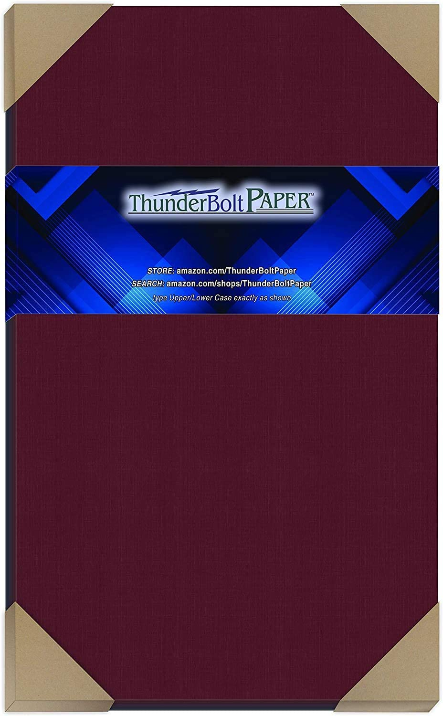 25 Dark Burgundy Linen 80# Cover Paper Sheets -8.5