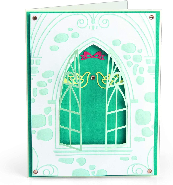 Sizzix Impresslits Embossing Folder Wedding Window, Multi Color, Multicolor