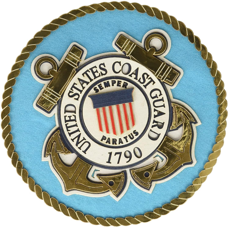 UNIFORMED U.S. Coast Guard Emblem Die Cut