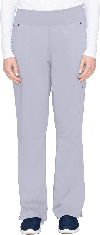 healing hands Purple Label Yoga Women's Tori 9133 5 Pocket Knit Waist Pant Grey-XX-Small Petite