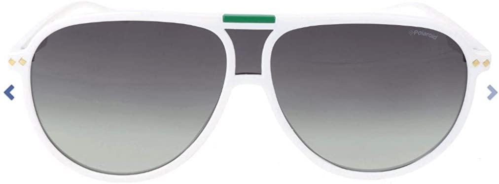 Polaroid 6025/S VK6 White Palladium Aviator Sunglasses Polarised Lens Category